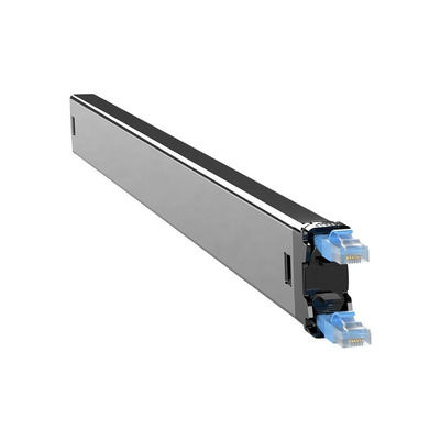 PATCHBOX Plus+ Cat.6 Cassette, 50mm x 690mm x 50mm, 0.4kg - Zwart,Blauw,Zilver