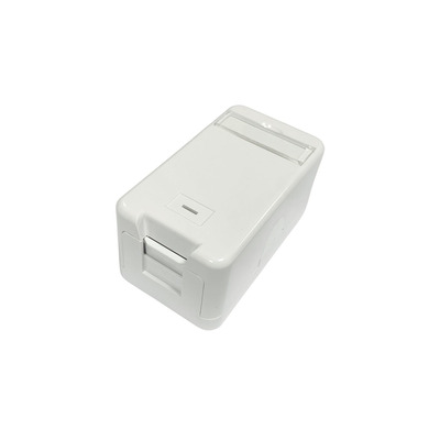 Lanview Surface mount box for 1 x RJ45 jack Wandcontactdoos - Wit