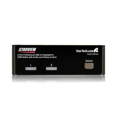 StarTech.com 2-poort Professionele USB DisplayPort KVM-Switch met Audio KVM switch - Zwart