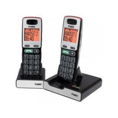Fysic FX-5520, Big Button DECT Twin dect telefoon - Zwart