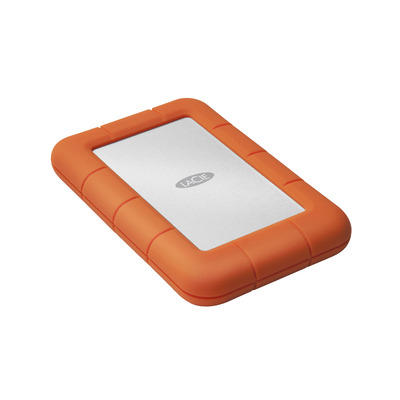 Lacie externe harde schijf: Rugged Mini - Oranje, Zilver