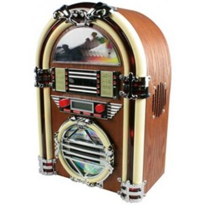 BasicXL CD-radio: Retro jukebox met AM / FM radio en CD-speler - Hout