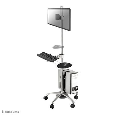 Neomounts by Newstar mobiele werkplek Multimedia kar & stand - Zilver