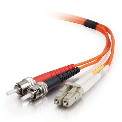 C2G 2m LC/ST LSZH Duplex 62.5/125 Multimode Fibre Patch Cable Fiber optic kabel