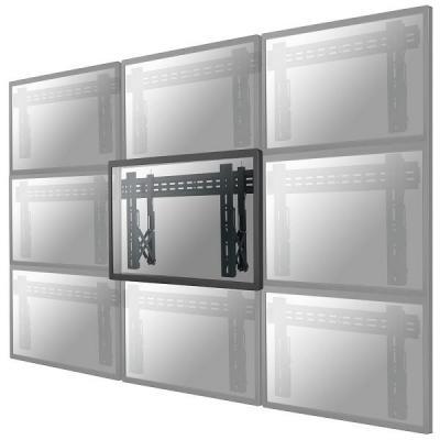 """Newstar montagehaak: De LED-VW1000BLACK is een vlakke video wall wandsteun voor schermen t/m 75"""" (191 cm) - Zwart"""