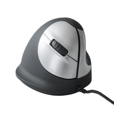 R-go tools computermuis: HE Mouse USB - Medium - Rechtshandig - Zwart, Zilver