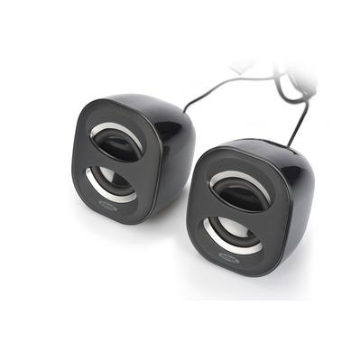 ASSMANN Electronic 2.0 Bureaubladluidspreker 6W (RMS), USB-voeding, zwart Speaker - Antraciet, Zwart