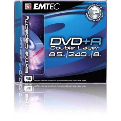 Emtec DVD: DVD+R Double Layer, 8.5GB, 2.4x