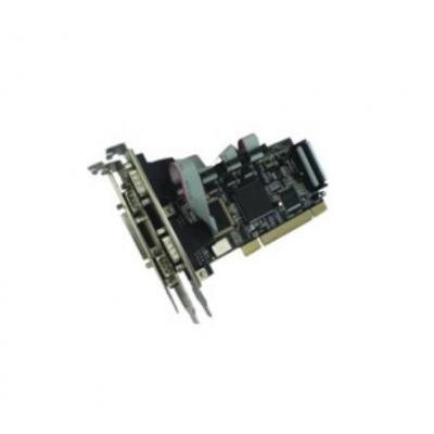 Longshine 4 x DB9 male serial, 1 x DB25 female parallel, PCI Interfaceadapter