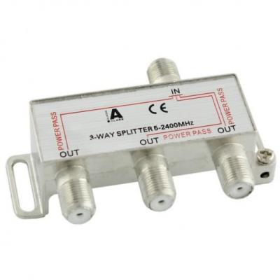 Ligawo kabel splitter of combiner: 6552101 - Zilver