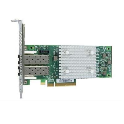 Dell interfaceadapter: Qlogic 2692 Dual Port 16Gb Fibre Channel HBA, Low Profile, Customer Install - Groen