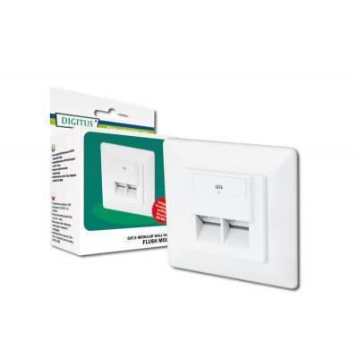 Digitus kabel connector: Modular Wall Outlet  CAT6