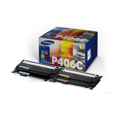 Samsung 4 Color Pakket Color Laser Printer Toner toner - Zwart, Blauw, Magenta, Geel