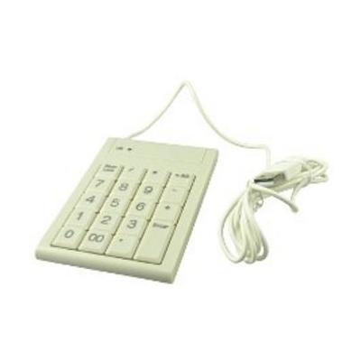 2-power toetsenbord: Basic USB White Numeric keypad - Wit
