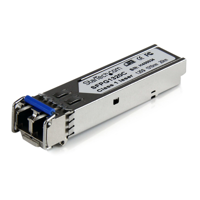 StarTech.com Cisco-compatibele gigabit glasvezel SFP-zendontvanger module SM LC met DDM 20 km (mini-GBIC) .....