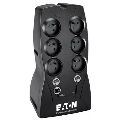 Eaton UPS: Protection Station 500 FR - Zwart