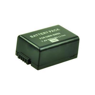 2-power batterij: Digital Camera Battery, Li-Ion, 7.4V, 890mAh, Black - Zwart