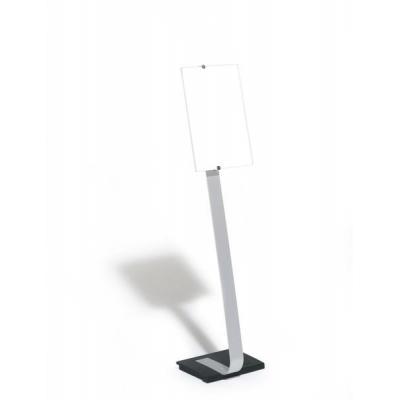 Durable naambord : Crystal sign stand A3 - Zilver