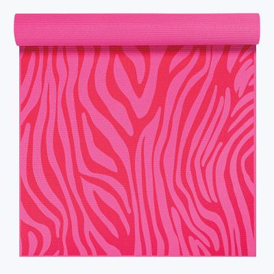 Gaiam fitness, gymnastiek & gewichtstraining: Kids - Yogamat - 3mm - Roze Zebra