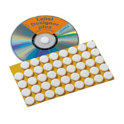 Herma : CD fixation dots Ø 15 mm white felt 90 pcs. - Wit