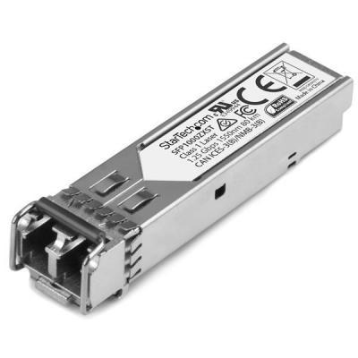Startech.com netwerk tranceiver module: MSA conform Gigabit glasvezel SFP ontvanger module 1000Base-ZX SM LC 80km - .....