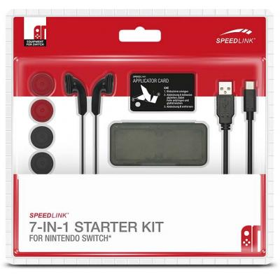 Speed-link hardware: Speedlink, 7-IN-1 Starter Kit (Zwart)  Nintendo Switch