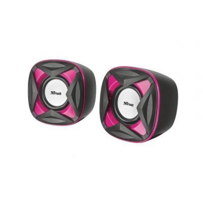 Trust Speaker: Xilo Compact 2.0 - Zwart, Roze