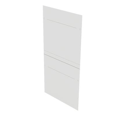 Minkels Zijpanelen 42x800x800 gedeeld Rack toebehoren - Wit