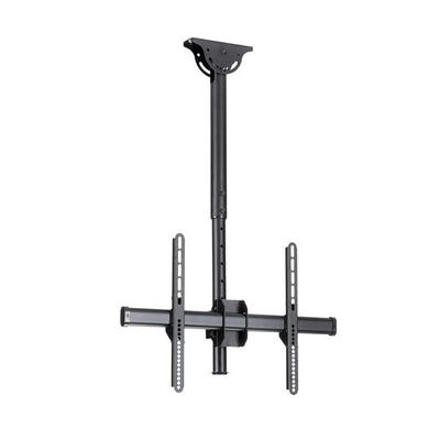 """StarTech.com Plafondbeugel voor platte 32"""" tot 75"""" tv volledig beweegbaar robuust staal TV standaard - Zwart"""