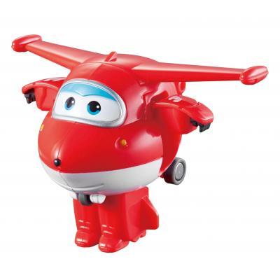 Alpha animation & toys toy vehicle: Super Wings Speelfiguren Transform-A-Bots! Jett - Rood, Wit