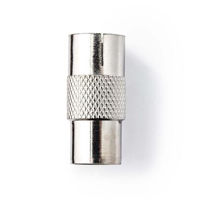 Nedis Coaxadapter, IEC (Coax) Male - IEC (Coax) Female, Metaal Kabel adapter - Zilver