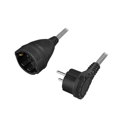 LogiLink LPS104 Electriciteitssnoer - Zwart,Wit