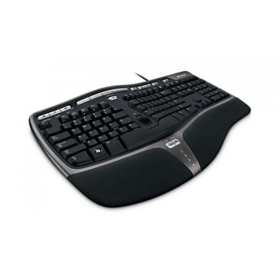 Microsoft toetsenbord: Natural Ergonomic Keyboard 4000 (Noors) - Zwart, QWERTY