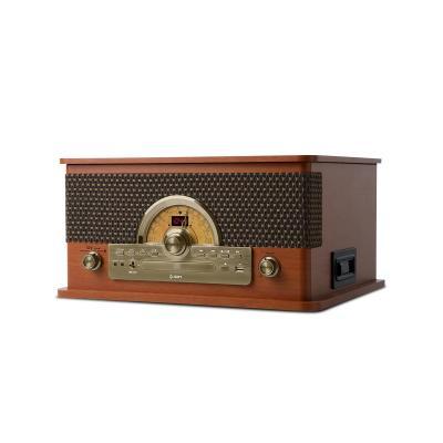 Ion CD-radio: AM/FM, CD, Bluetooth, USB, Turntable - Zwart, Hout
