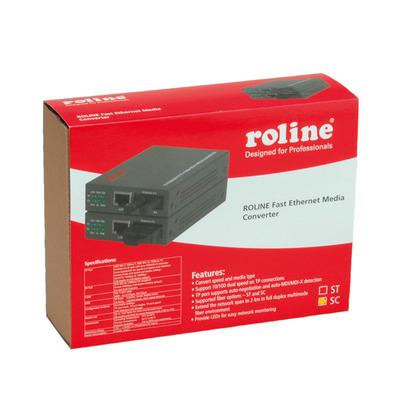 ROLINE RC-100FX/SC Fast Ethernet Converter, RJ-45 to SC, Loop-back Media converter