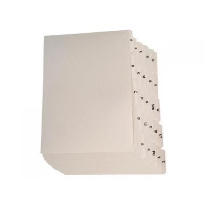 Staples indexkaart: Alfabet kaartenbak SPLS A4 a/z set 25