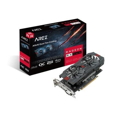 ASUS AREZ-RX560-O2G-EVO Videokaart - Zwart, Rood