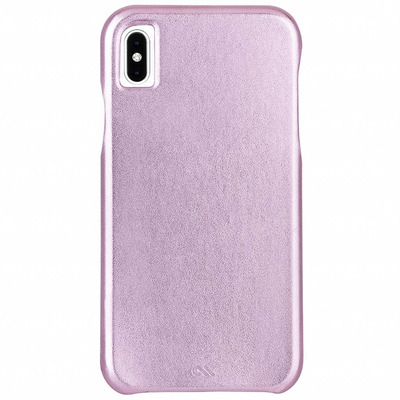 Barely There Leather Backcover iPhone X / Xs - Roze / Pink Mobile phone case