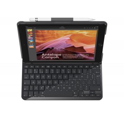 Logitech mobile device keyboard: Slim Folio - Zwart, QWERTZ