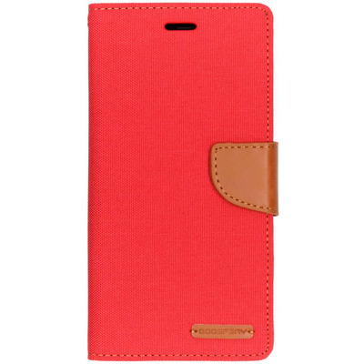 Canvas Diary Booktype Samsung Galaxy A7 (2018) - Rood / Red Mobile phone case