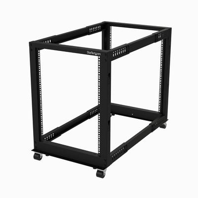 StarTech.com 15U open frame 4 stijlen verstelbare diepte Rack - Zwart