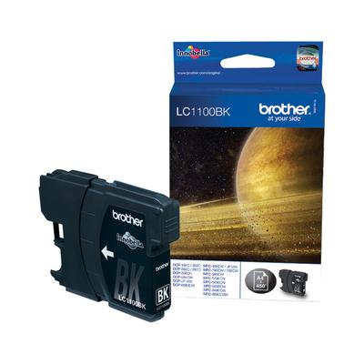 Brother LC-1100BK Black Ink Cartridge Inktcartridge - Zwart