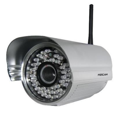 Foscam beveiligingscamera: FI9805W - 1.3 MP, 1280x960, 30fps, IP, H.264, 70°, 0.5Lux, 802.11 b/g/n, 1020g - Zilver
