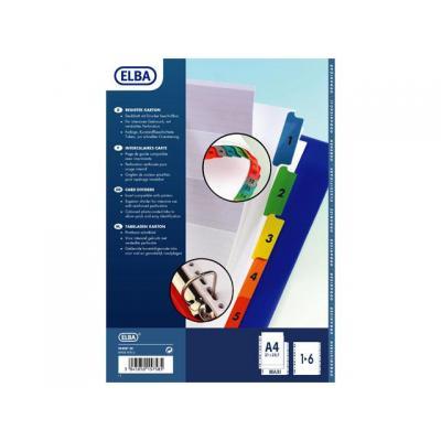 Elba schutkaart: Tabblad A4+ 11r 1-6 karton/set 6
