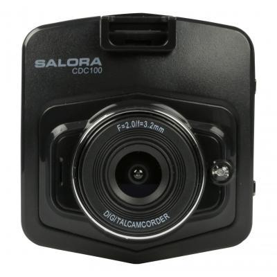 "Salora drive recorder: 1.0MP CMOS, 1080P @30fps, AVI, 2.3"" TFT LCD, 200mAh, 50g - Zwart"