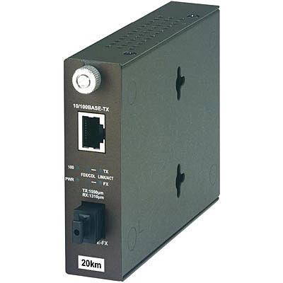 Trendnet 100Base-TX to 100Base-FX Dual Wavelength Single Mode SC Fiber Converter TX1550 Media converter