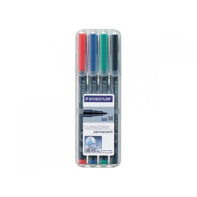 Lumocolor markeerstift: OHP/CD/DVDmarker Lc317 M ass/etui 4