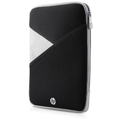 "Hp tablet case: 25.65 cm (10"") Zippered Tablet Sleeve - Zwart, Wit"