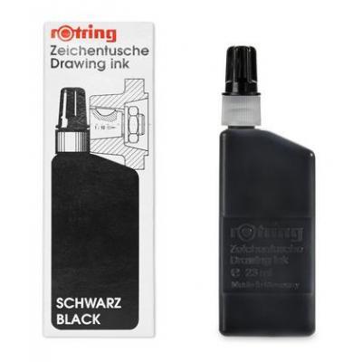 Rotring pen-hervulling: Drawing Inks - 23ml, Black - Zwart
