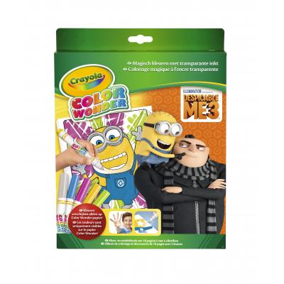 Crayola kleurplaat en boek: Color Wonder box set Despicable Me 3 Kleurboek incl. 5 Stiften